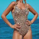 Animal Printed One Piece Swimwear Women Swimsuits Summer Vacation Outfits
