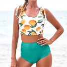Women Tropical Tankinis Fruit Printed Swimwear 50% Female Padded Bathing Suits