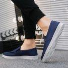 Fashion Old Peking Shoes Men Summer Loafers Denim Footwear Slip-on Winklepickers