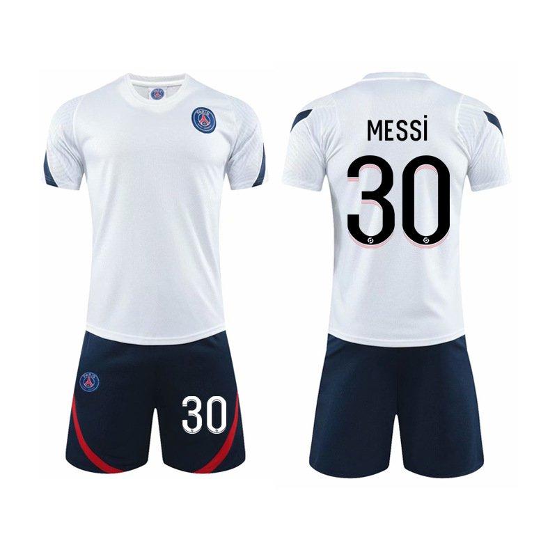 Adult Paris Saint-Germain F.C Home Soccer Tops Messi Football Uniforms PQME001A