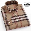 Fashion Oxford Plaid Business Shirt Cotton Casual Shirt For Men PQ2145