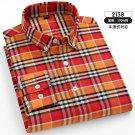 Oxford Plaid Business Shirt Fashion Cotton Casual Shirt For Men PQ2144
