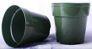 50 NEW 6 Inch Standard Plastic Nursery Pots ~ Pots ARE 6 Inch Round At the Top a
