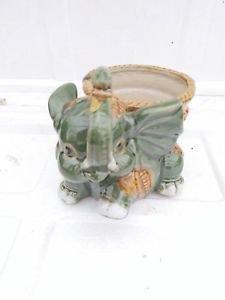Baby Elephant Ceramic Vase Style G017 Unique