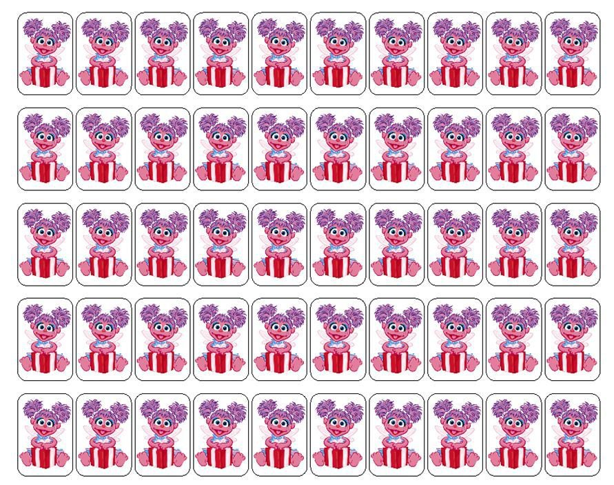 """50 Abby Cadabby Envelope Seals / Labels / Stickers, 1"""" by 1.5"""""""