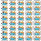 "50 Bubble Guppies Envelope Seals / Labels / Stickers, 1"" by 1.5"""