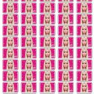"50 Barbie Envelope Seals / Labels / Stickers, 1"" by 1.5"""