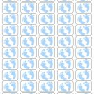 "50 Blue Baby Feet Envelope Seals / Labels / Stickers, 1"" by 1.5"""