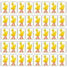 "50 Big Bird Envelope Seals / Labels / Stickers, 1"" by 1.5"""