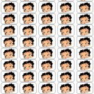 "50 Betty Boop Envelope Seals / Labels / Stickers, 1"" by 1.5"""