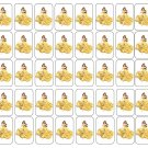 "50 Disney Princess Belle Envelope Seals / Labels / Stickers, 1"" by 1.5"""