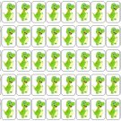 "50 Cute Dinosaur Envelope Seals / Labels / Stickers, 1"" by 1.5"""