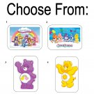 "50 Care Bears Envelope Seals / Labels / Stickers, 1"" x 1.5"""