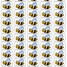"50 Bumble Bee Envelope Seals / Labels / Stickers, 1"" by 1.5"""