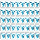 "50 Blue's Clues Envelope Seals / Labels / Stickers, 1"" by 1.5"""