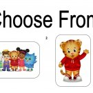 "50 Daniel Tiger's Neighborhood Envelope Seals / Labels / Stickers, 1"" x 1.5"""