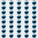 "50 Cookie Monster Envelope Seals / Labels / Stickers, 1"" by 1.5"""
