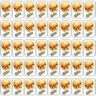 "50 Cheezey B Shopkins Envelope Seals / Labels / Stickers, 1"" by 1.5"""