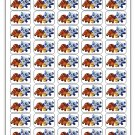 "50 Ruff Ruff Tweet and Dave Envelope Seals / Labels / Stickers, 1"" by 1.5"""