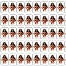 "50 Moana Envelope Seals / Labels / Stickers, 1"" by 1.5"""