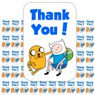 "50 Adventure Time Thank You Envelope Seals / Labels / Stickers, 1"" by 1.5"""