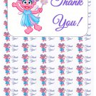 "50 Abby Cadabby Thank You Envelope Seals / Labels / Stickers, 1"" by 1.5"""