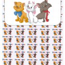 "50 Aristocats Thank You Envelope Seals / Labels / Stickers, 1"" by 1.5"""