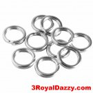 10 Split Jump Rings 5mm Split ring Stainless steel Jewelries Attachment Finding