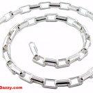 "Italian Genuine solid Anti-Tarnish 925 silver Long Round Box Chain- 5.5mm 18"""