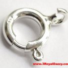 14k White gold layer solid 925 Sterling Silver Small Spring Clasp Ring Repairs