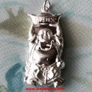 Smiling With Gold Chinese New Year Fortune Buddha 999 Fine Silver Hollow Pendant