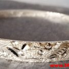 Handmade Classic Couple Dragon Phoenix 999 Solid Fine Silver Adjustable Bangle