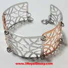 14k Rose & White Gold Layer on 925 Silver Bracelet (3RoyalDazzy.com's Handmade)