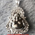 Inspiring Majestic 3D Sparkling Buddha .999 Solid Silver Medium Size Pendant