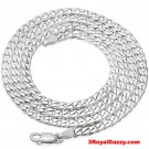 "Precious Italian Sterling Silver Anti-Tarnish Curb link Chain 5 MM 18 """