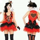 NEW Leg Avenue Halloween Black Heart Queen Costume Last size Medium USA Cosplay