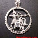 Astrology Zodiac Sagittarius Horoscope Birthday Anti Tarnish .925 Silver Pendant