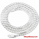Precious Italian Sterling Silver Anti-Tarnish Curb link Chain 5 MM 22 ""