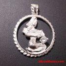 Astrology Zodiac Aquarius Horoscope Birthday Anti Tarnish .925 Silver Pendant