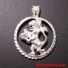 Astrology Zodiac Leo Horoscope Birthday Anti Tarnish .925 Silver Charm Pendant