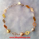 14k Rose, Yellow, White Gold Layer on 925 Sterling Silver Eye Catching Bracelet