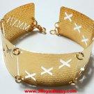 14k Yellow Gold Layer on 925 Bracelet - 3RoyalDazzy.com Handmade Exclusive 9