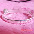 New Handmade .925 Sterling Silver Asian Blessing Newborn Baby Adjustable Bangle