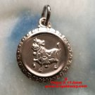 Chinese Zodiac Horoscope 925 Solid Silver Round Year of Ox Pendant charm- small