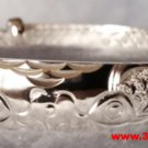 Handmade Japanese Double Koi Fish Design 999 Solid Fine Silver Adjustable Bangle