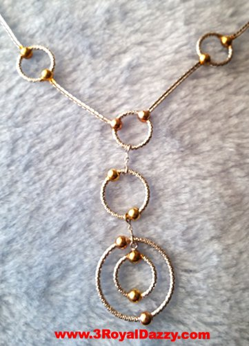 14k Tri Color Rose Yellow White Gold Layer on 925 Silver Super Elegant Necklace