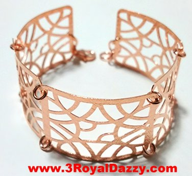 14k Rose Gold Layer on 925 Silver Bracelet 3RoyalDazzy.com Handmade Exclusive-13