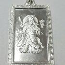 Lord Guan Yu / Guan Gong God of War 999 fine Silver Rectangle Pendant charm