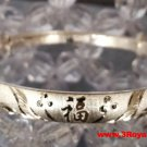 Handmade Double Pair Love Bird Happiness 999 Solid Fine Silver Adjustable Bangle