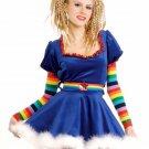 Secret Wishes Sexy Rainbow Girl Costume Dress, Belt,Sleevelets,Stockings Size- S